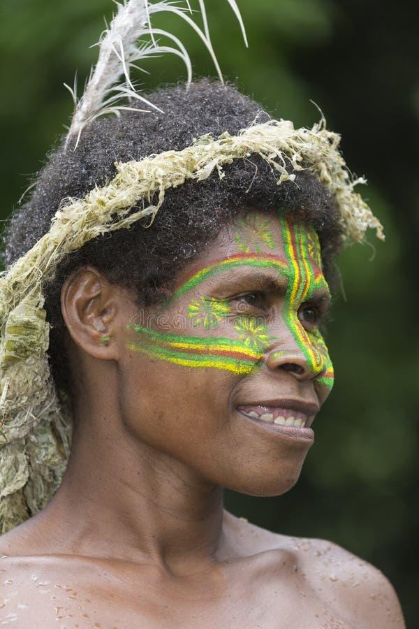 Tanna, Republic of Vanuatu, o 12 de julho de 2014, retrato de um indi imagem de stock