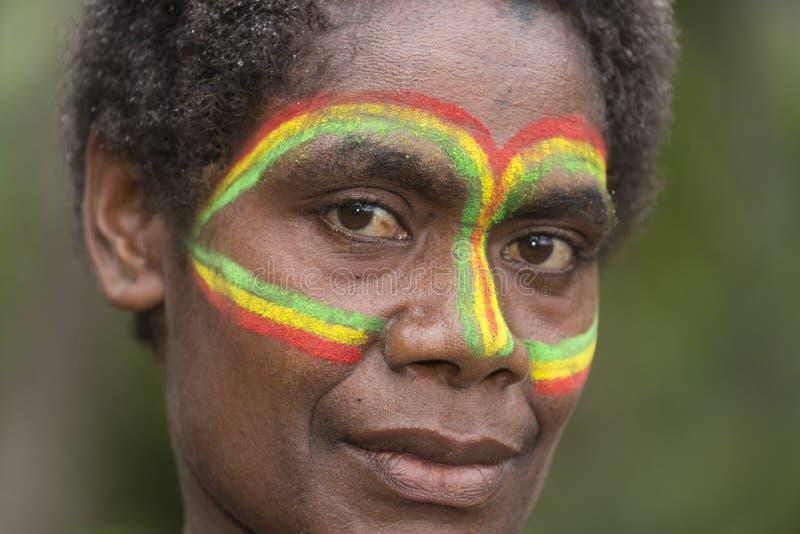 Tanna, Republic of Vanuatu, o 12 de julho de 2014, retrato de um indi imagens de stock