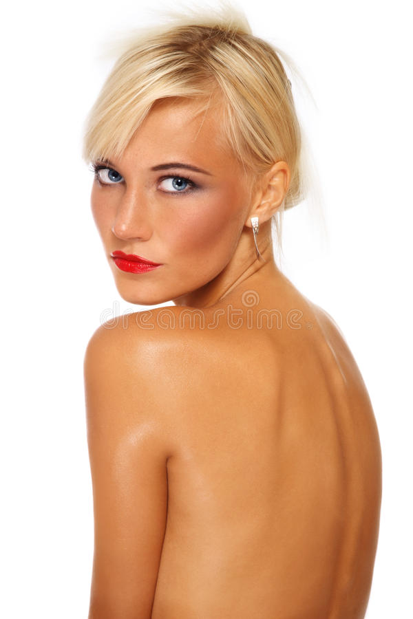 Tanned Blonde Stock Images