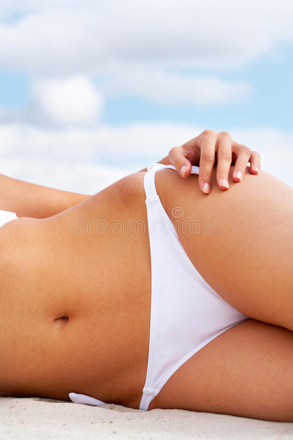 Download Tanned body stock photo. Image of relaxing, femininity - 28376098