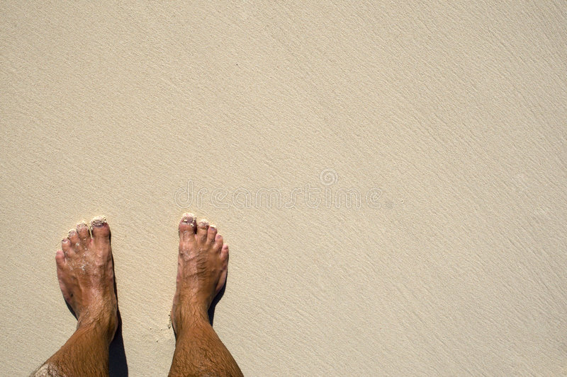 Download Tanned legs on sand beach stock photo. Image of bare, beach - 9105044