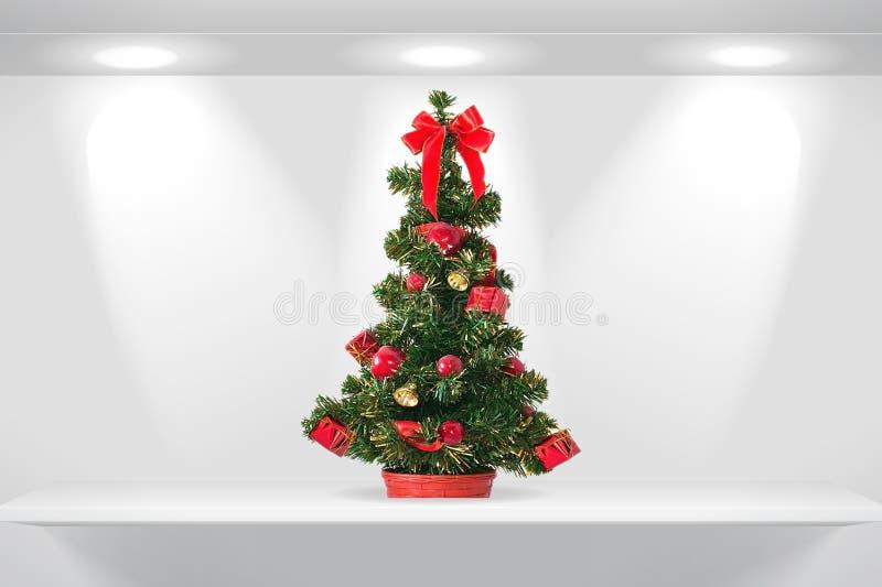 Tannenbaum auf dem Regal vektor abbildung