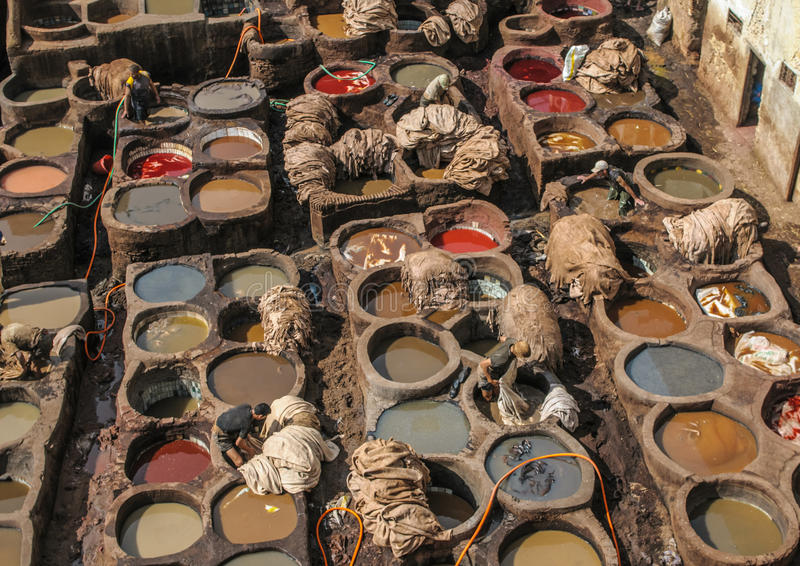 Download Tannery in Fez, Morocco editorial photography. Image of morocco - 33083662