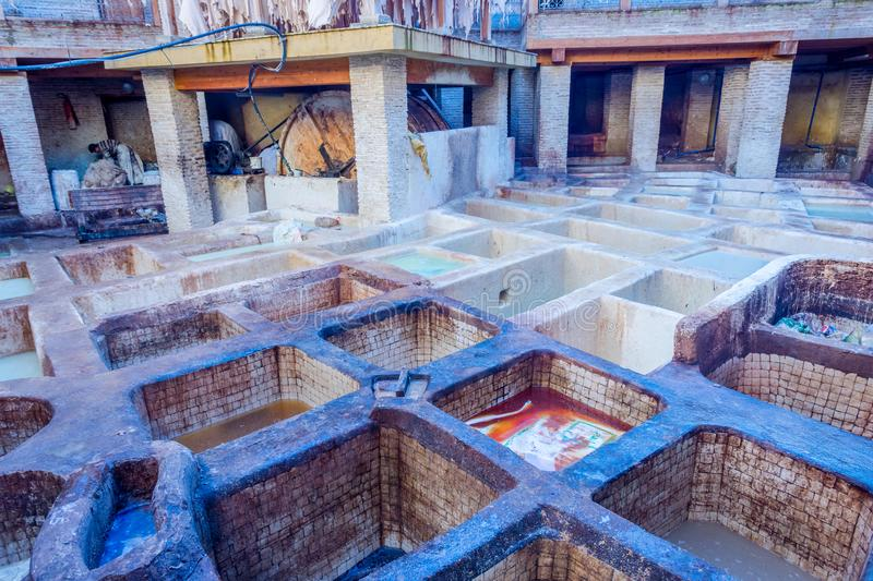Tannery pools, Fez royalty free stock photography