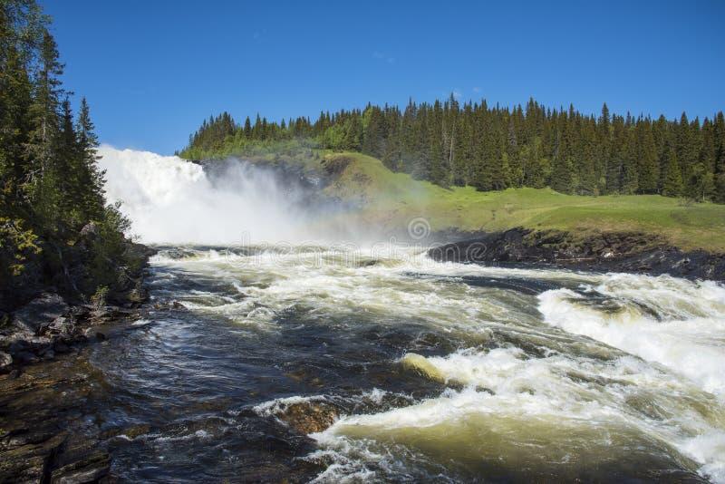 Tannforsen vattenfall Sverige arkivfoton
