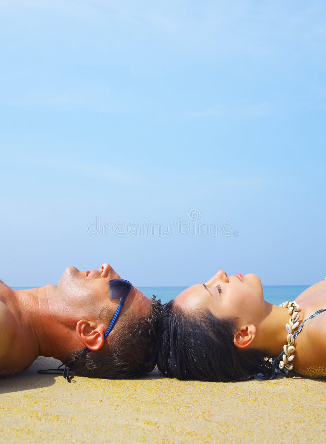 Tanning stock image