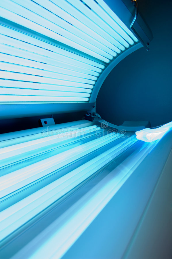 Tanning bed. A Tanning bed at tanning salon stock image