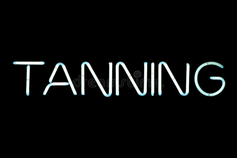 Download Tanning Neon Sign stock image. Image of tanning, lights - 15279787