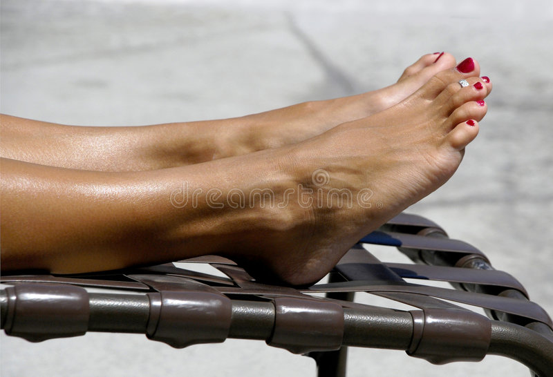 Tanning Toes Royalty Free Stock Photography