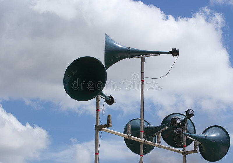 Tannoy speakers royalty free stock images