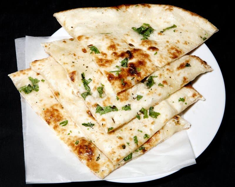 Tanoori naan in plate royalty free stock image