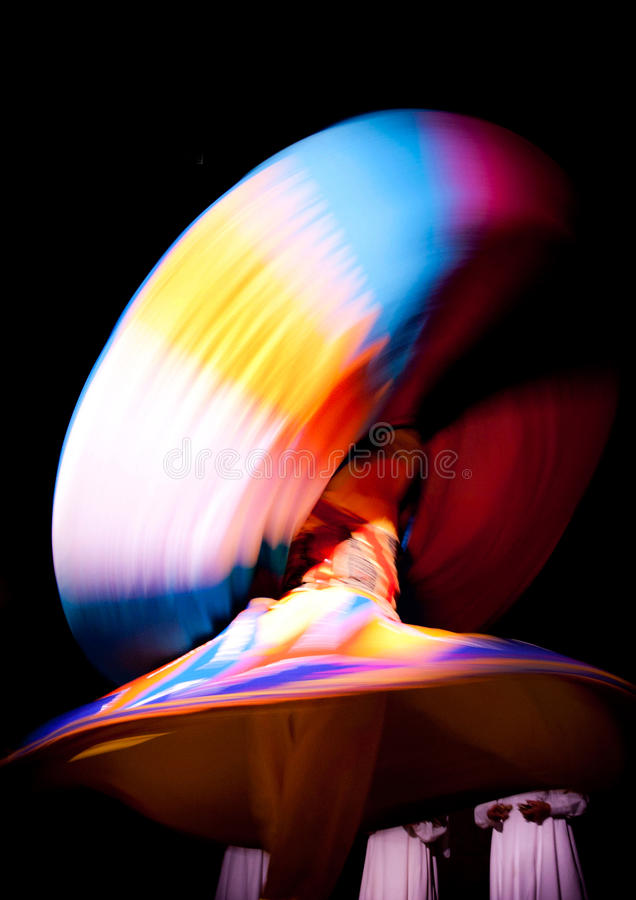 Tanoura. The colorful religious Tanoura show presented in Egypt royalty free stock images
