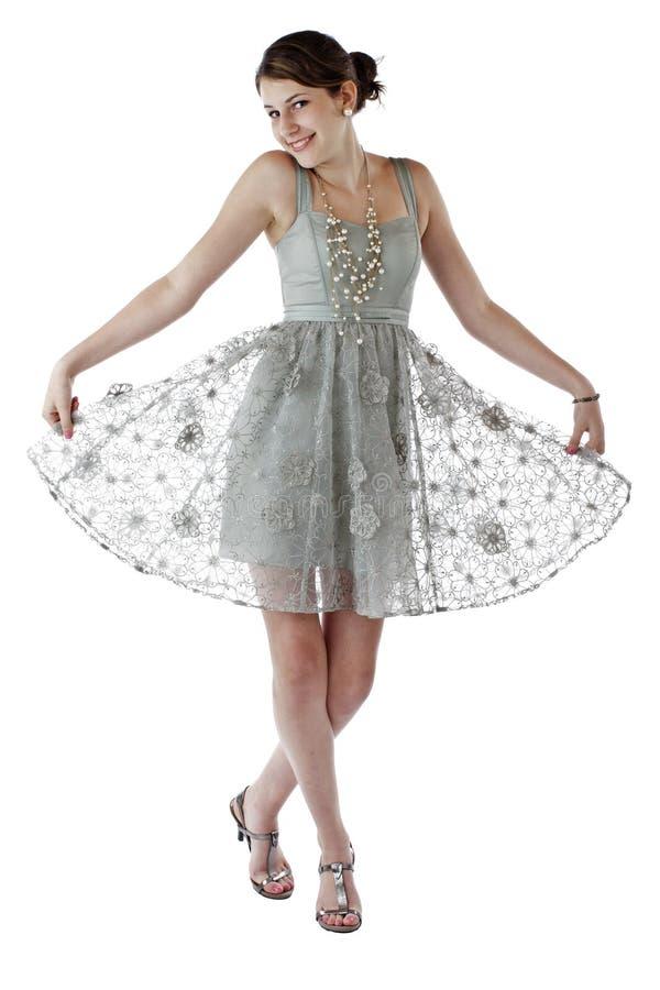 tanowie ubierają dziewczyny koronki przyjęcia nastoletniego obraz stock