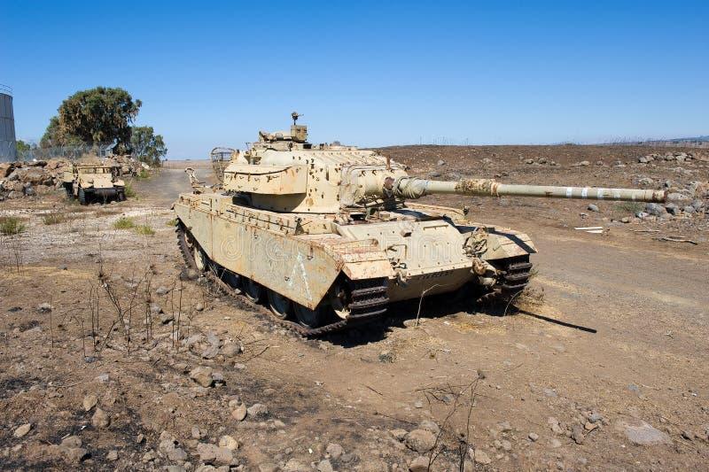 Tanque Centurión a la izquierda de la guerra de Yom Kipur imagen de archivo