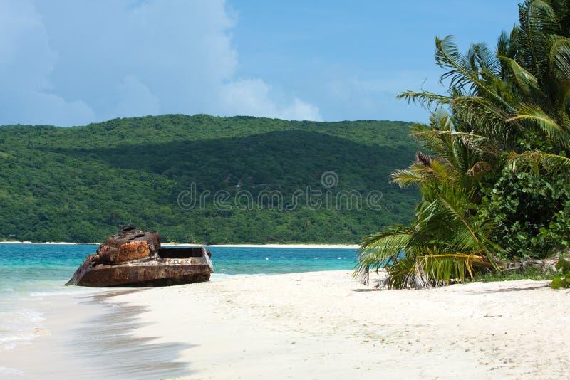Tanque da praia de Puerto Rico fotografia de stock royalty free