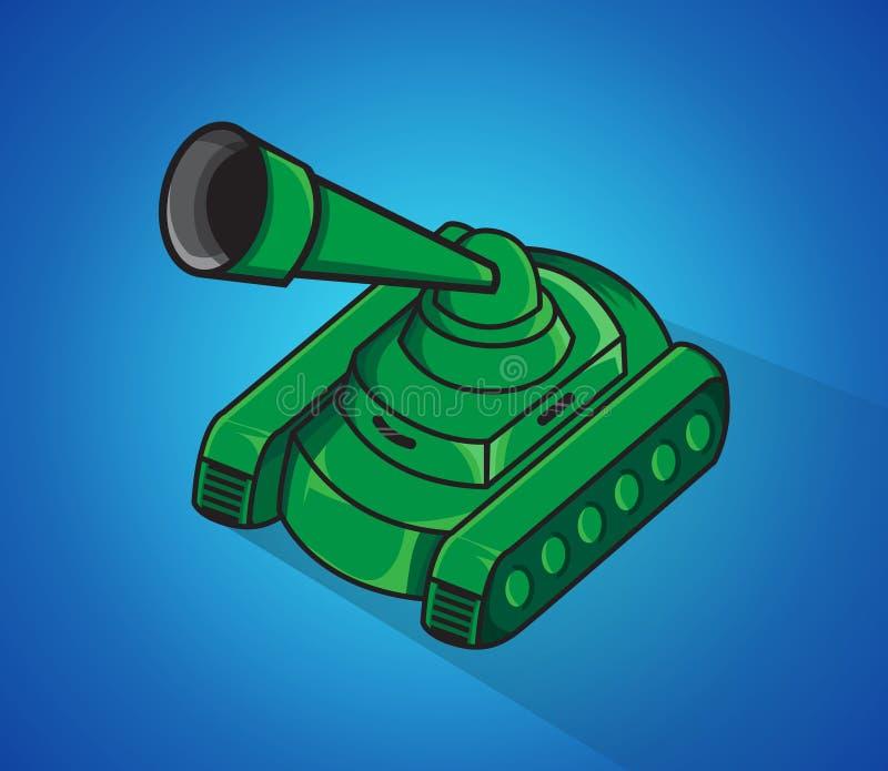 Tanque de exército ilustração royalty free