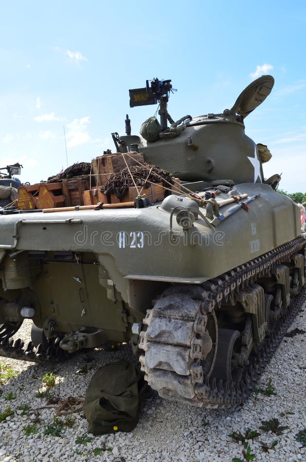 Tanque de guerra de WW2 Sherman fotos de stock royalty free
