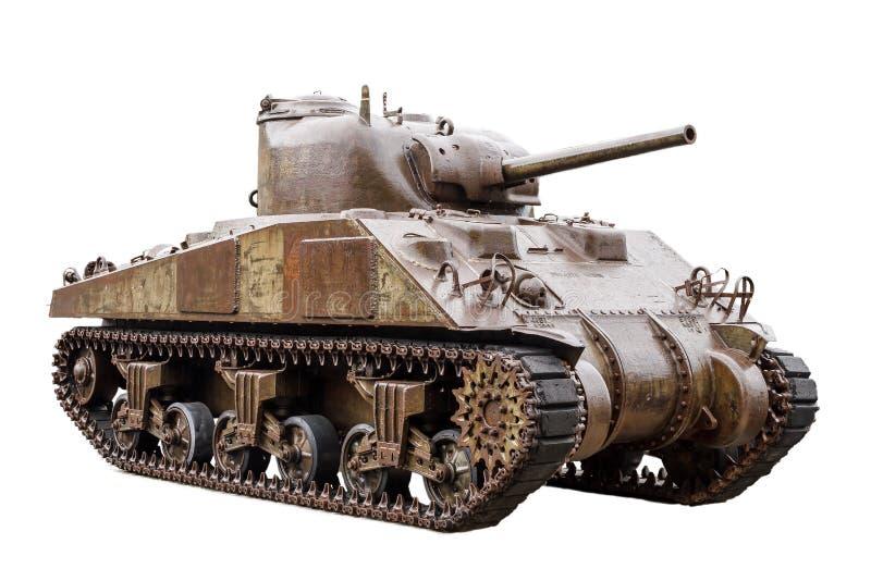 Tanque de M4 Sherman no branco imagens de stock royalty free