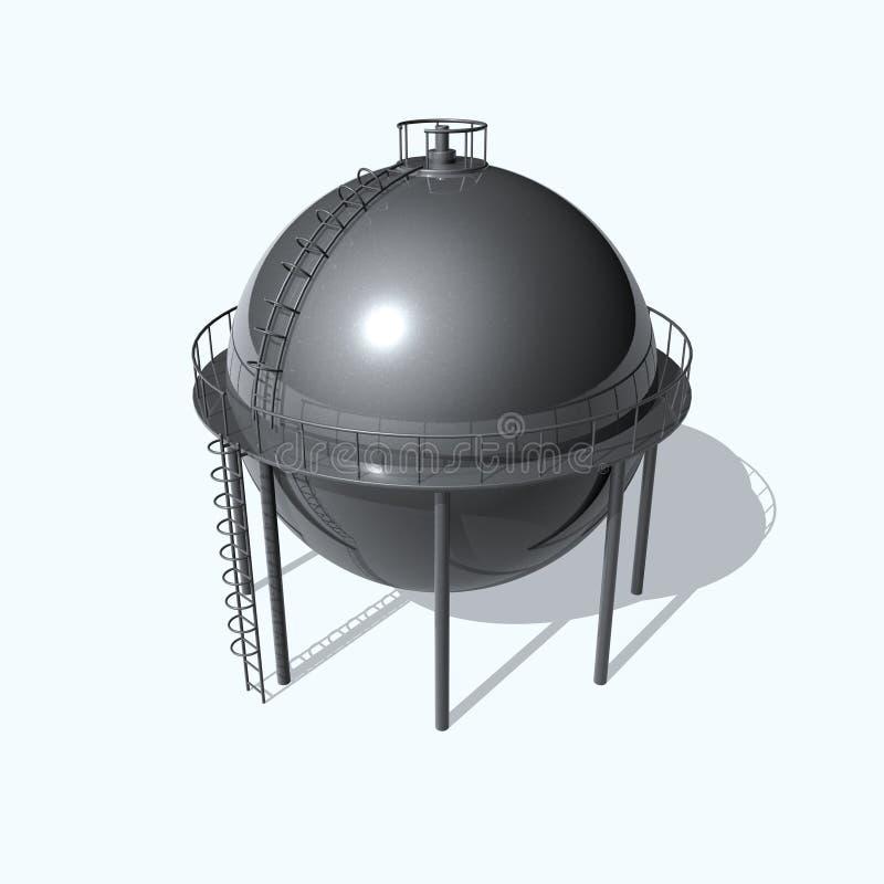Tanque de petróleo ilustração stock