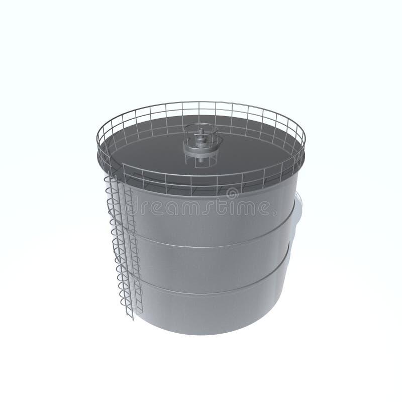 Tanque de petróleo ilustração do vetor