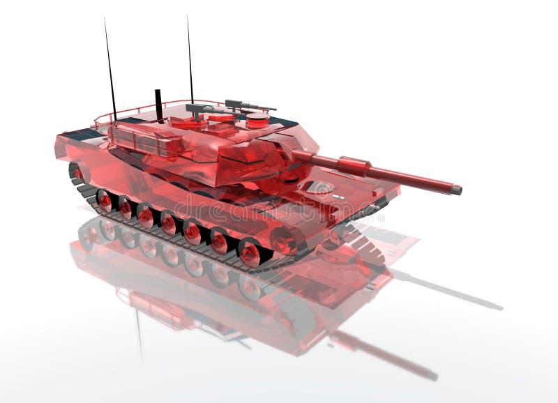 Tanque de vidro vermelho ilustração stock