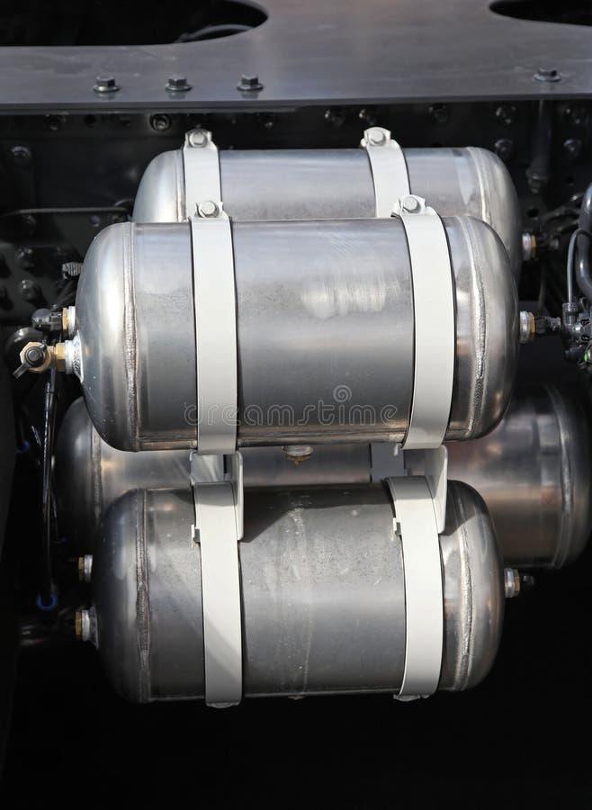 Tanque do compressor de ar fotografia de stock