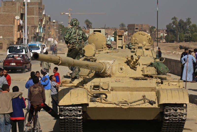 Tanque em Egipto imagens de stock royalty free