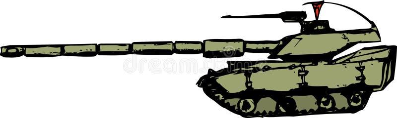 Tanque - estilo dos desenhos animados ilustração stock
