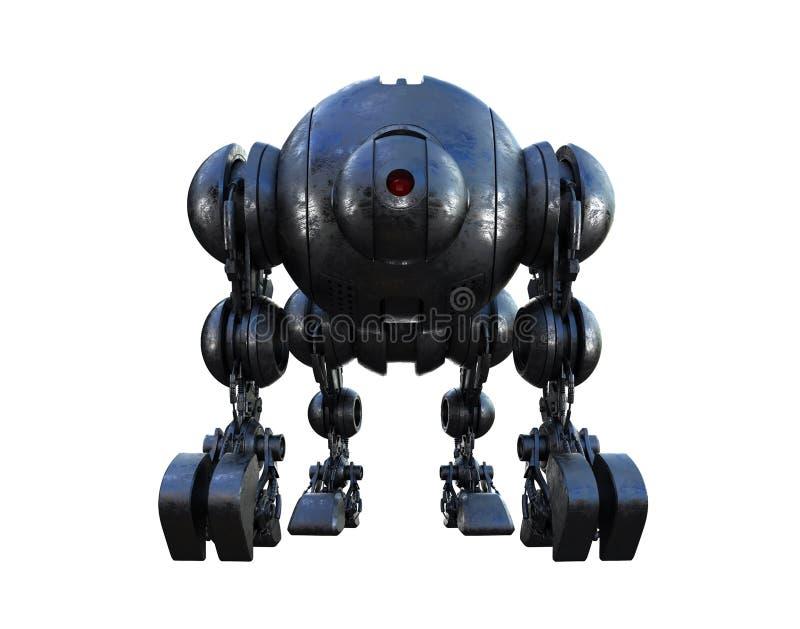 Tanque futurista maciço ilustração do vetor