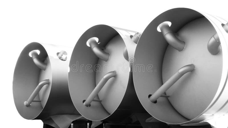 Tanque industrial ilustração stock