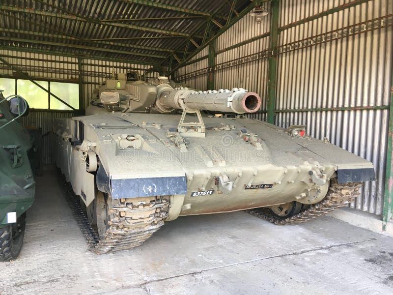 Tanque Merkava de Uniqua Israel fotografia de stock