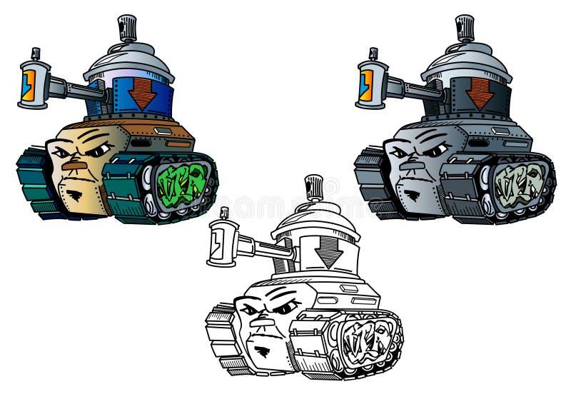 Tanque novo do Graffitti-estilo ilustração do vetor