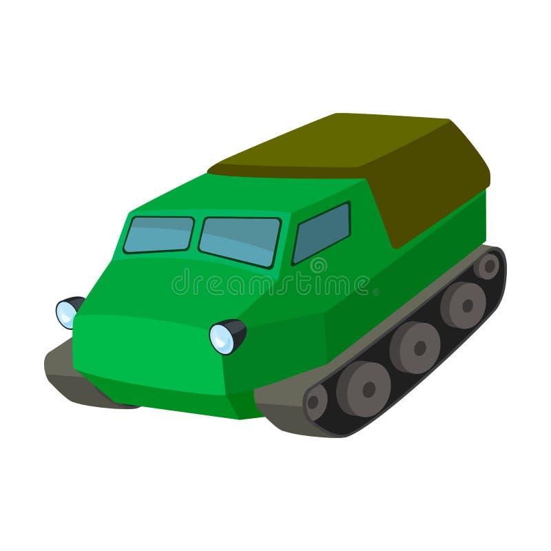 Tanque para os pântanos Transporte de Caterpillar das forças armadas Transporte o único ícone no estoque do símbolo do vetor do e ilustração do vetor