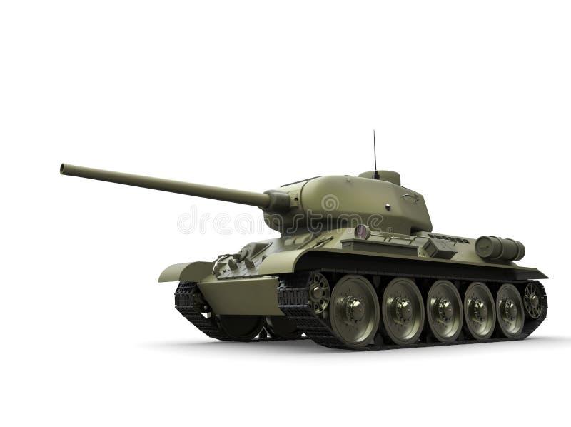 Tanque pesado militar do verde azeitona velho ilustração do vetor