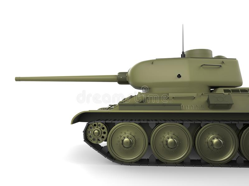 Tanque pesado militar do verde azeitona velho - tiro cortado ilustração royalty free