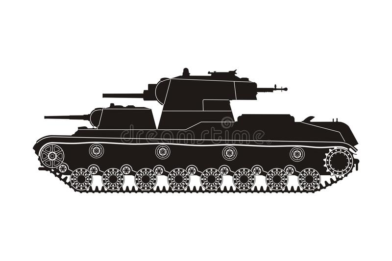 Tanque preto SMK ilustração royalty free