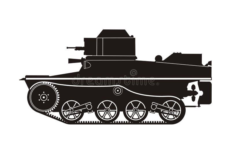 Tanque preto T-41-6 ilustração stock