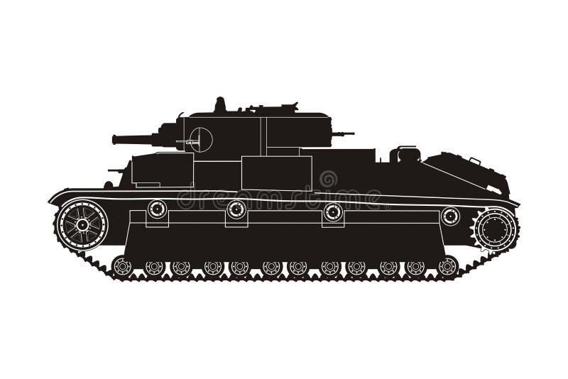 Tanque preto T-28 ilustração do vetor