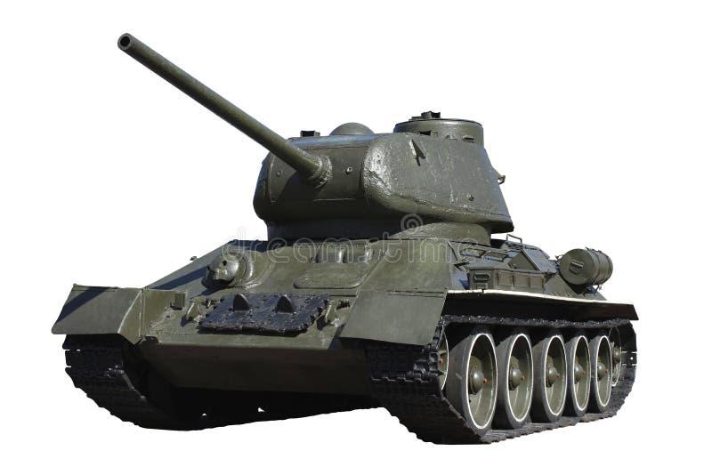Tanque retro verde em um fundo branco isolado fotos de stock royalty free
