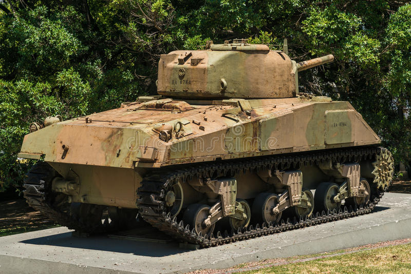 Tanque Sherman M4A4 imagem de stock