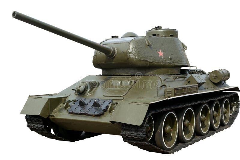 Tanque soviético T-34-85 da segunda guerra mundial fotografia de stock royalty free