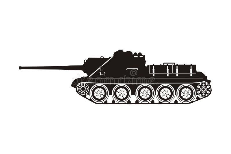 Tanque SU-100 ilustração do vetor