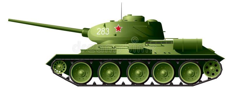 Tanque T-34 ilustração royalty free