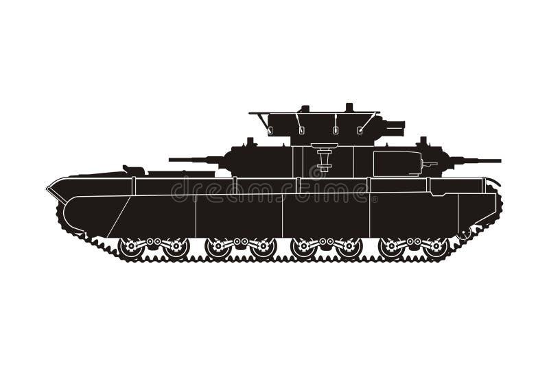 Tanque T-35-4 ilustração do vetor