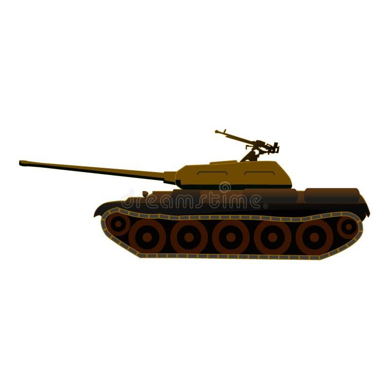 Tanque T-34 no disfarce abandonado ilustração royalty free
