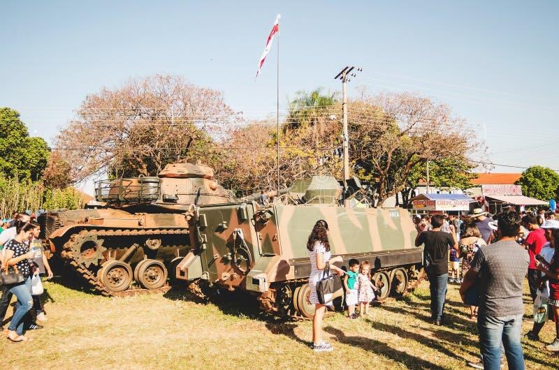 Tanques brasileiros da guerra fotografia de stock royalty free