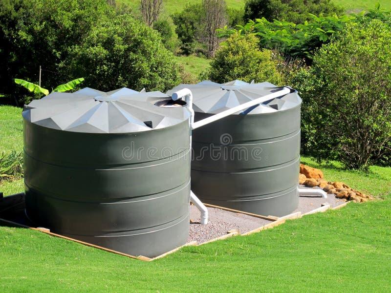 Tanques de água fotografia de stock royalty free
