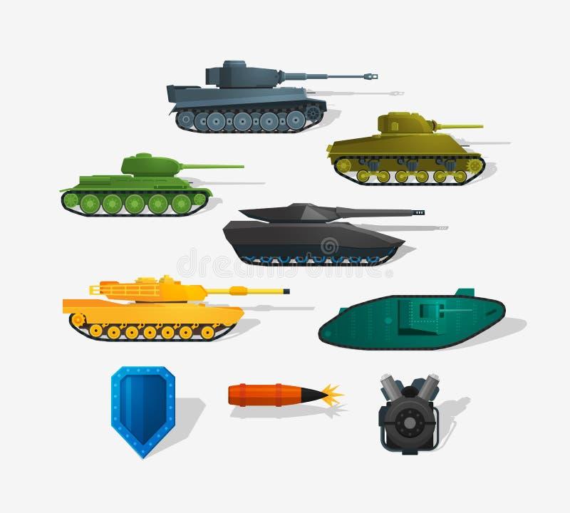 Tanques de guerra ilustração royalty free