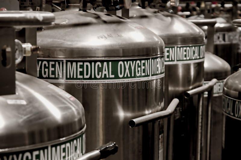 Tanques de oxigênio imagem de stock