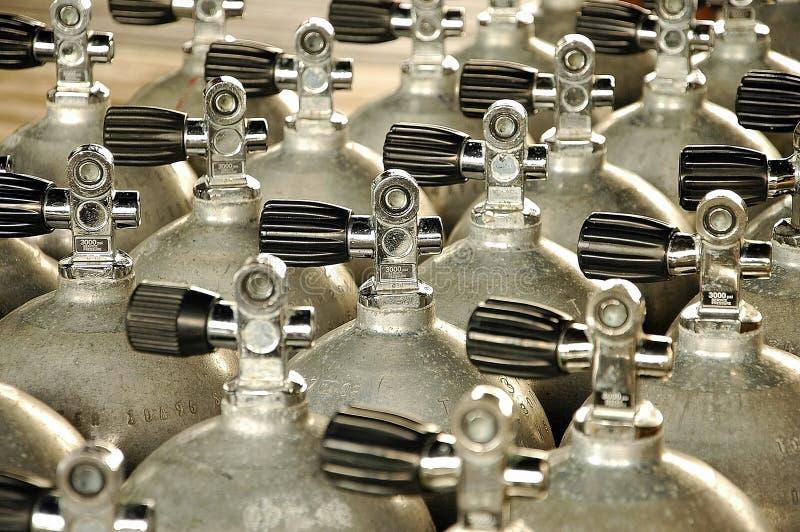 Tanques de oxigênio imagens de stock royalty free